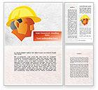 Construction: 建造者的肖像Word模板 #09157