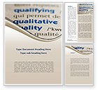 Consulting: Meaning of Quality Word Template #09160