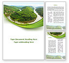 Nature & Environment: River Valley Word Template #09162