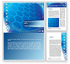 Technology, Science & Computers: Abstract Blue Cells Word Template #09166