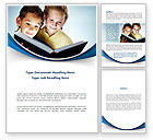 People: Reading Book in Early Childhood Word Template #09173