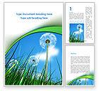 Nature & Environment: Dandelion Field Word Template #09175