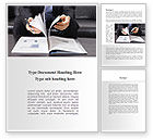 Business Concepts: Open Book Study Word Template #09177