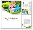 People: Elderly Man And Woman Word Template #09193