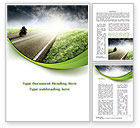 Cars/Transportation: Bike On The Road Word Template #09202