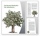 Financial/Accounting: Mature Money Tree Word Template #09208