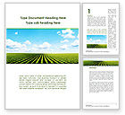 Agriculture and Animals: Cultivated Field Word Template #09216