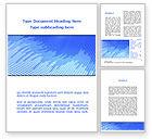 Abstract/Textures: Plantilla de Word - resumen cinta azul #09225