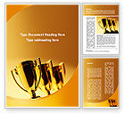 Sports: Winner Goblets Word Template #09229