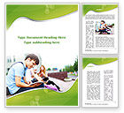 People: Student Reading a Book Word Template #09242