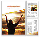 Religious/Spiritual: High Hopes Word Template #09261