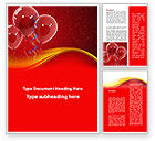 Holiday/Special Occasion: Red Balloons Word Template #09279