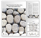 Nature & Environment: Pebble Word Template #09282