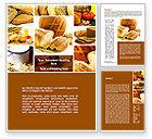 Food & Beverage: Pastries Word Template #09329
