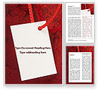 Holiday/Special Occasion: Tag Word Template #09339
