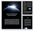 Global: Deep Space Sunrise Word Template #09341