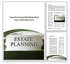 Consulting: Estate Planning Word Template #09348