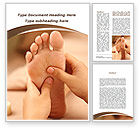 Medical: Feet Dotted Massage Word Template #09356