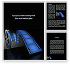Art & Entertainment: Film Reel In Dark Blue Color Word Template #09362