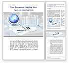 Consulting: Globe Word Template #09368