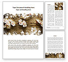 Nature & Environment: Spring Blossom Apple Tree Word Template #09369