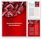 Medical: Red Blood Cells Stream Word Template #09372