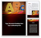 Education & Training: Letters For Education Word Template #09374