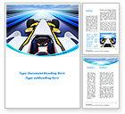 Cars/Transportation: Formula One Bolide Word Template #09378