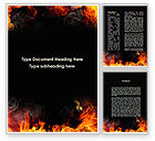Abstract/Textures: Forks Of Flame Word Template #09390