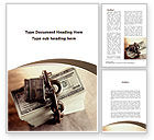 Financial/Accounting: Pack Of Dollars Word Template #09403