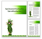 Nature & Environment: Green Life Word Template #09405