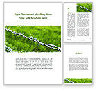 Nature & Environment: Barbed Wire Fence Word Template #09411