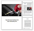 Cars/Transportation: Check Motor Oil Word Template #09416
