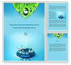 Nature & Environment: Spring Water Drops Word Template #09426