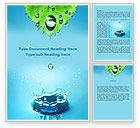 Nature & Environment: Modello Word - Gocce d'acqua di primavera #09426