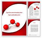 Consulting: Modèle Word de modèle triatomique moléculaire #09433