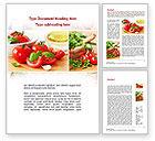 Food & Beverage: Sliced Tomatoes Word Template #09438