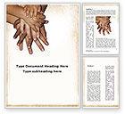 Religious/Spiritual: Handfläche an handfläche Word Vorlage #09443