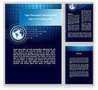 Global: Blue Globe of Earth Word Template #09444