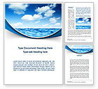 Nature & Environment: Sea Word Template #09450