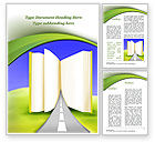 Education & Training: Road to Knowledge Country Word Template #09458