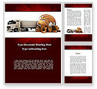 Cars/Transportation: Cargo Delivery Service Word Template #09469