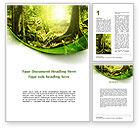 Nature & Environment: Wildernisbos Word Template #09472