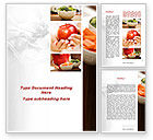 Food & Beverage: Fresh Food Word Template #09481
