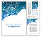 Abstract/Textures: White Flowers Blue Pattern Word Template #09482