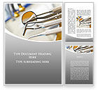 Medical: Dental Instruments Word Template #09485