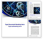 Technology, Science & Computers: 워드 템플릿 - 원자 모델 #09489