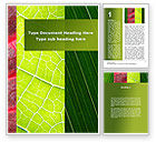Nature & Environment: Leafs Cells Word Template #09496