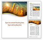 Business: Visual Report Word Template #09501
