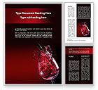 Food & Beverage: Fantastic Red Wine Word Template #09503